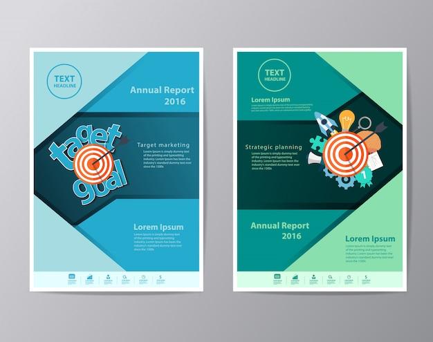Modelo de folheto de folheto de folheto de relatório anual