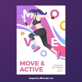 Modelo de folheto de ginásio moderno