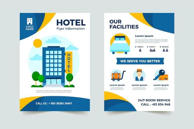 Modelo de folheto de hotel moderno