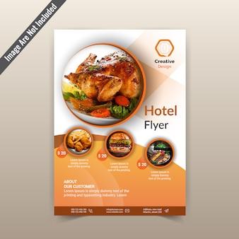 Modelo de folheto de hotel