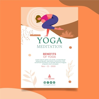 Modelo de folheto de ioga