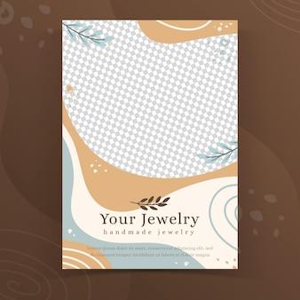 Modelo de folheto de joias feitas à mão