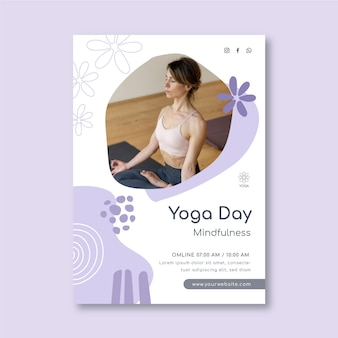 Modelo de folheto de meditação e atenção plena
