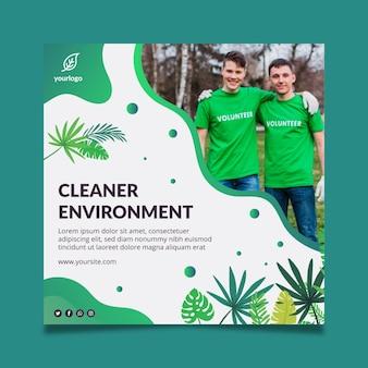 Modelo de folheto de meio ambiente