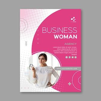 Modelo de folheto de mulher de negócios