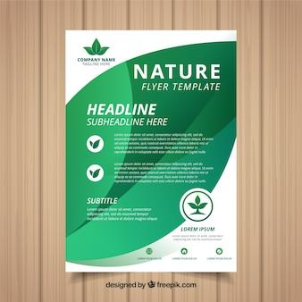 Modelo de folheto de natureza com design moderno