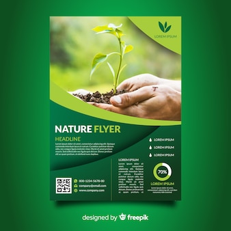 Modelo de folheto de natureza combinada