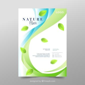 Modelo de folheto de natureza moderna