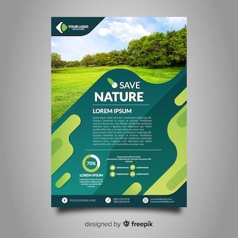 Modelo de folheto de natureza