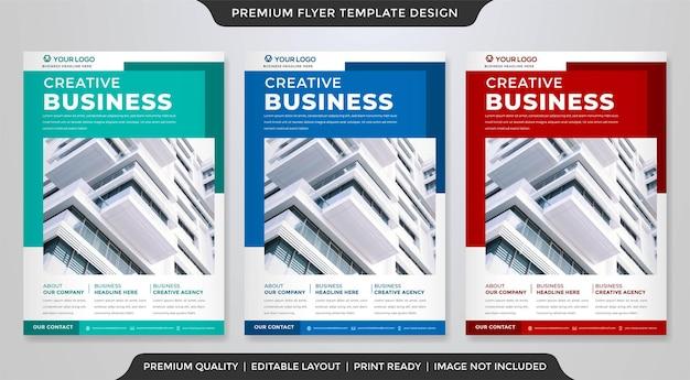 Modelo de folheto de negócios a4 estilo premium