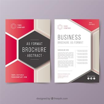 Modelo de folheto de negócios abstrato a5