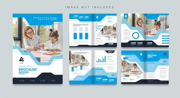 Modelo de folheto de negócios abstrato