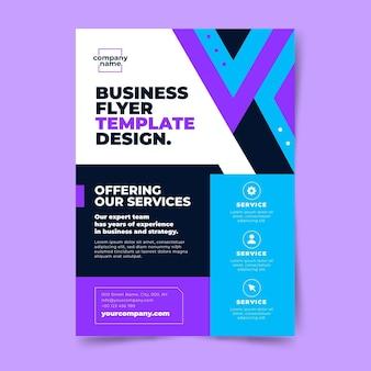 Modelo de folheto de negócios abstrato Vetor grátis