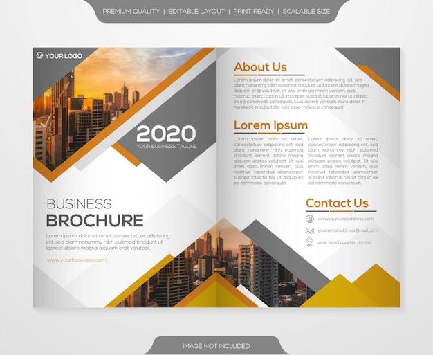 Modelo de folheto de negócios bifold