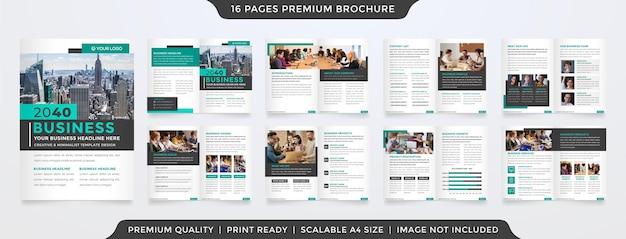 Modelo de folheto de negócios com estilo limpo e minimalista