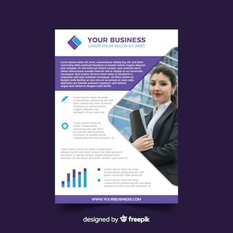 Modelo de folheto de negócios com foto