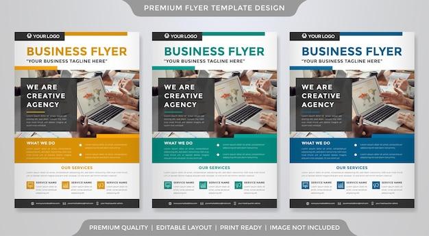 Modelo de folheto de negócios com layout moderno