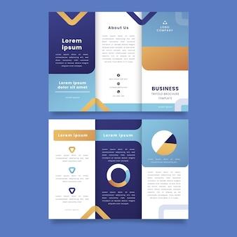 Modelo de folheto de negócios com três dobras gradientes