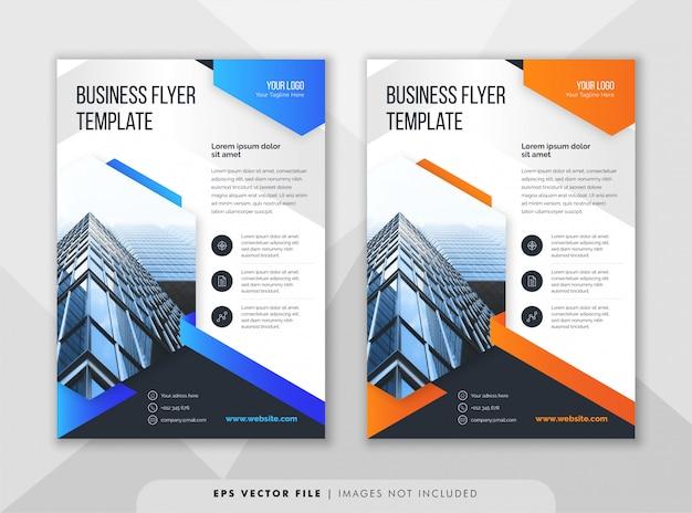 Modelo de folheto de negócios corporativos criativos.