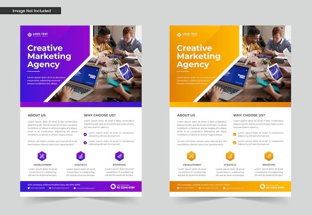 Modelo de folheto de negócios corporativos criativos