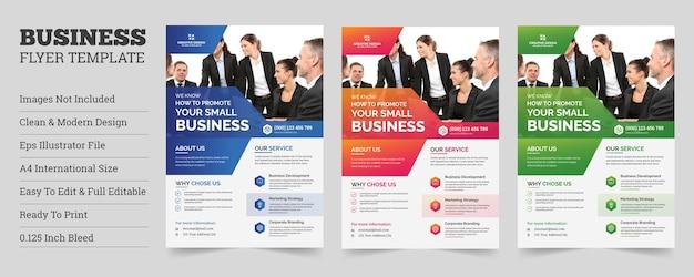 Modelo de folheto de negócios corporativos criativosdesign de modelo de folheto de negócios corporativos