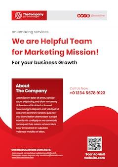 Modelo de folheto de negócios corporativos simples a4 vermelho