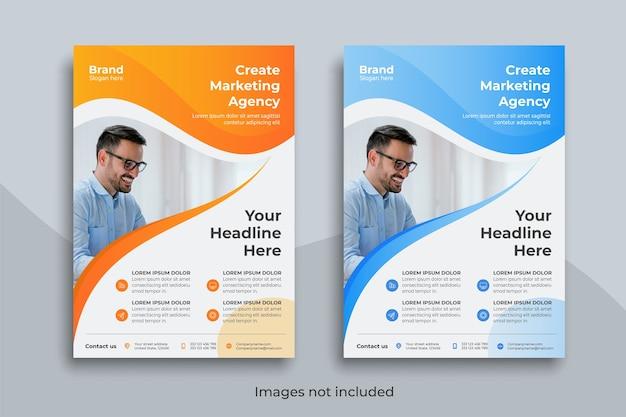 Modelo de folheto de negócios criativo