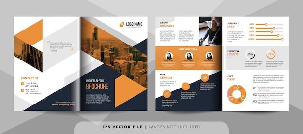Modelo de folheto de negócios criativos.