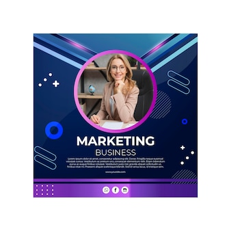 Modelo de folheto de negócios de marketing