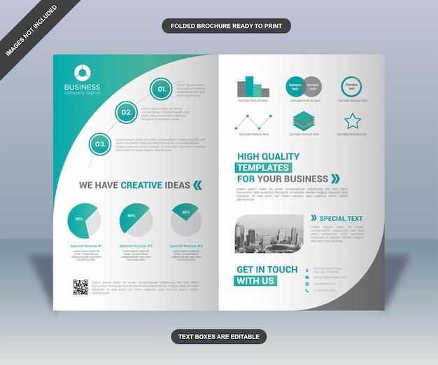Modelo de folheto de negócios dobrado