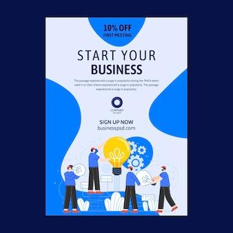 Modelo de folheto de negócios em geral ilustrado