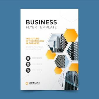 Modelo de folheto de negócios em mosaico