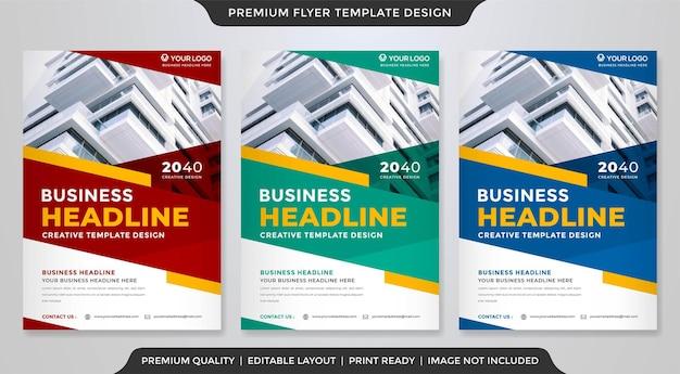 Modelo de folheto de negócios estilo premium