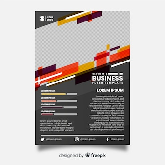 Modelo de folheto de negócios geométricos