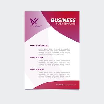 Modelo de folheto de negócios gradiente criativo