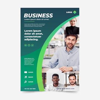 Modelo de folheto de negócios gradiente