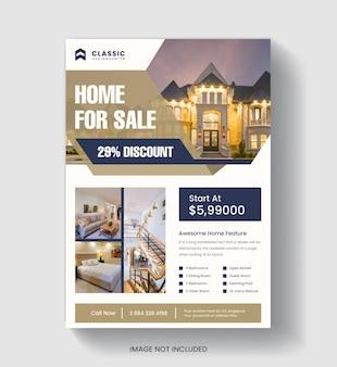 Modelo de folheto de negócios imobiliários