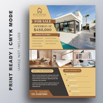 Modelo de folheto de negócios imobiliários.