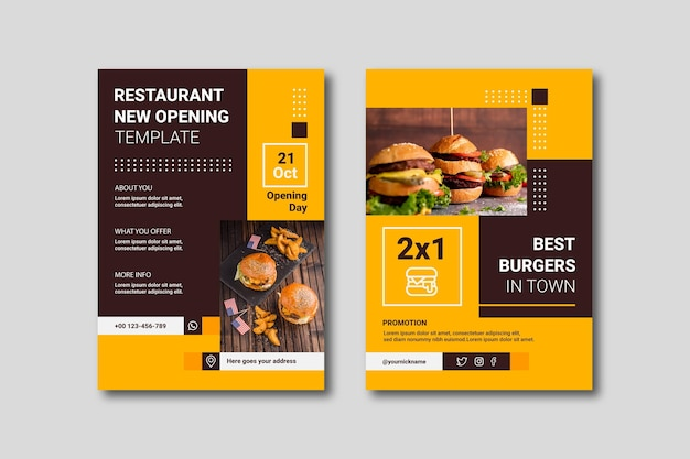 Modelo de folheto de negócios minimalista abstrato