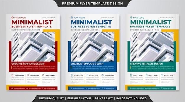 Modelo de folheto de negócios minimalista estilo premium