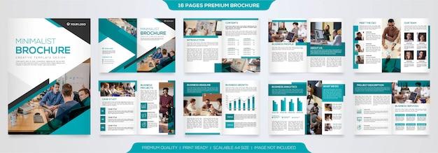 Modelo de folheto de negócios minimalista premium