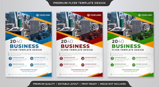 Modelo de folheto de negócios modelo premium