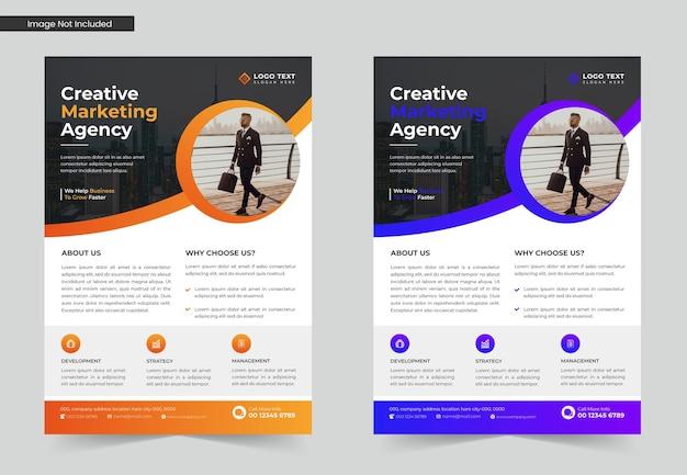 Modelo de folheto de negócios para agência de marketing digital