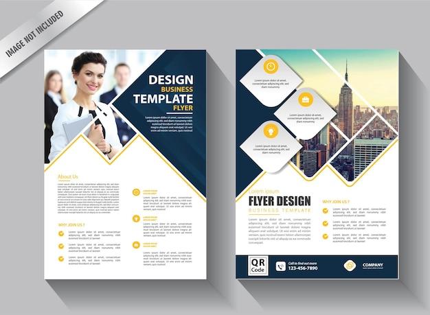 Modelo de folheto de negócios para design de relatório anual