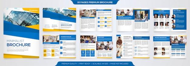 Modelo de folheto de negócios premium