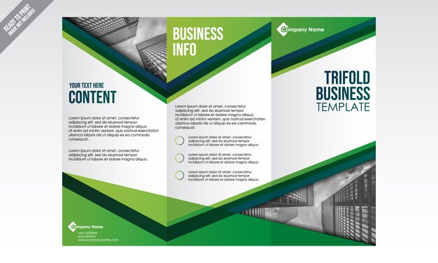 Modelo de folheto de negócios trifold