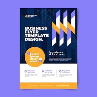 Modelo de folheto de negócios vertical