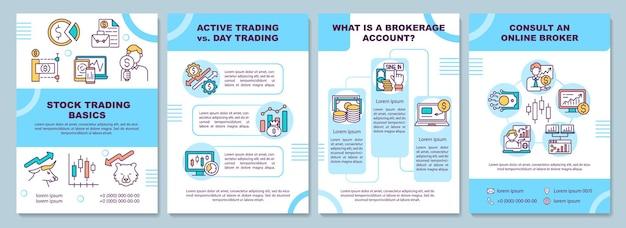 Modelo de folheto de noções básicas de negociação de ações
