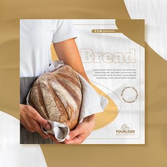 Modelo de folheto de pão fresco