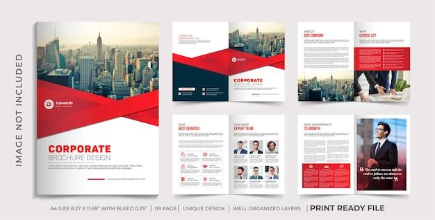 Modelo de folheto de perfil da empresa, design de folheto de várias páginas